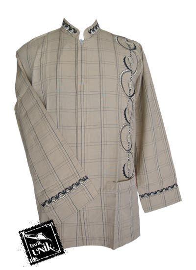 baju batik koko exclusive motif kotak aplikasi bordir koko batik murah batikunik