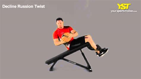 decline russian twist - Decline Bench Russian Twist