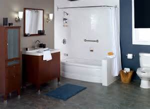 combo of a drop in tub with shower