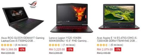 Laptop Apple Murah Di Malaysia spesifikasi laptop gaming murah archives ecommerce in