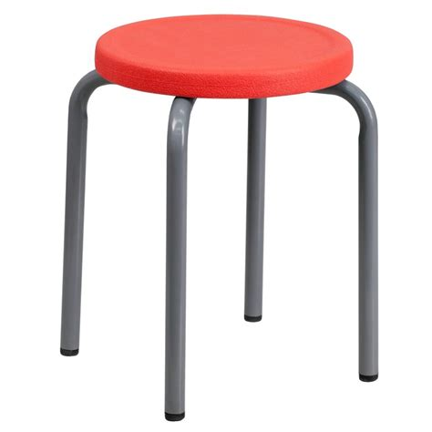 Stackable Stools by Stackable Stool With Seat And Silver Powder Coated Frame