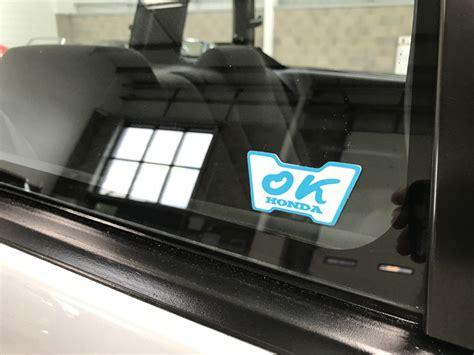 Honda Ok Sticker by Honda Accord Aerodeck Ex Auto Ok Honda Sticker