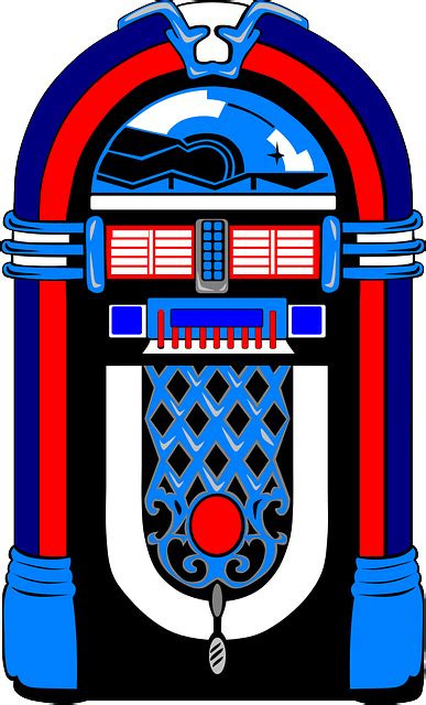 jukebox clipart free vector graphic jukebox blue white