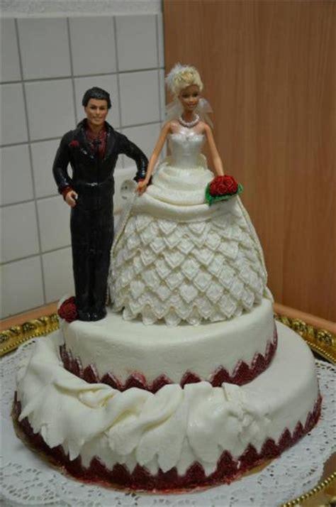 Torten Brautpaar by Meine Erste Hochzeitstorte Mit Und Ken Als