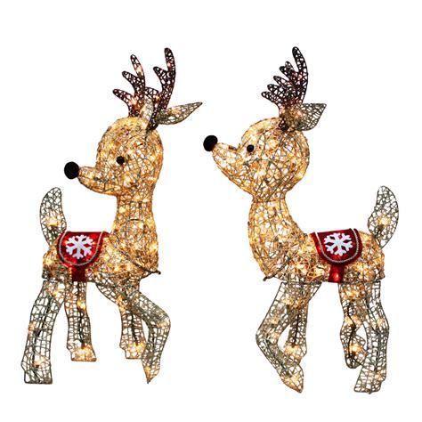 lit reindeer shop living pre lit reindeer reindeer constant