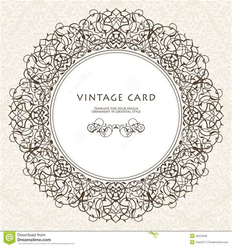 wedding decorative border decorative ornate frame in style stock vector