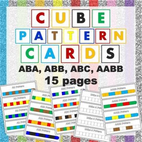 540 card cube template cube pattern cards patterns math and kindergarten