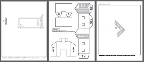 Pop Up House Card Template Pdf by Let It Glow Cards Learn Sparkfun