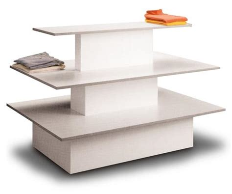 Show Tables by White 3 Tier Display Table 20 900 Bin And Basket Systems