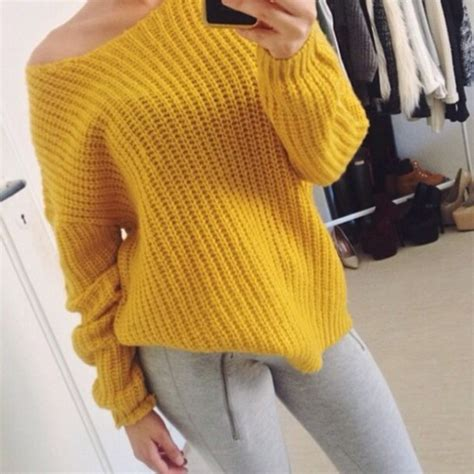 The Yellow Sweater shirt sweater yellow knit knit shirt yellow sweater