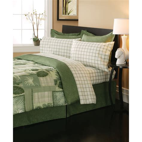 olive comforter essential home 8 piece complete bed set belize olive