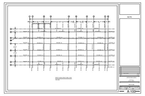 floor plan title block module 24 first floor structural plan module06 24x36 title