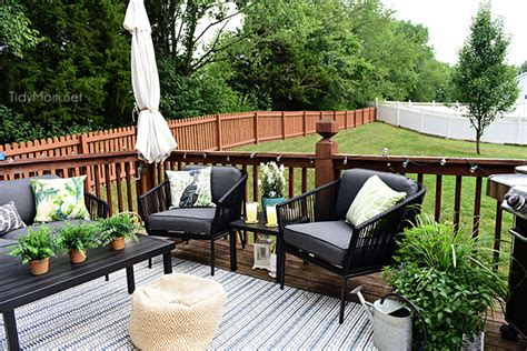 how to a small to outside maximize outdoor space learn how to decorate a small deck tidymom 174