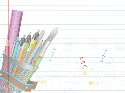 Educational Supplies Powerpoint Templates Education Objects White Free Ppt Backgrounds And Powerpoint Template For Education
