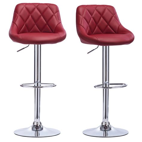 leather breakfast bar stools bar stools faux leather set of 2 kitchen breakfast bar