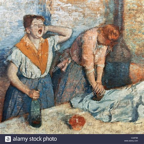 libro degas 1834 1917 art albums edgar degas 1834 1917 french painter and sculptor women ironing stock photo royalty free