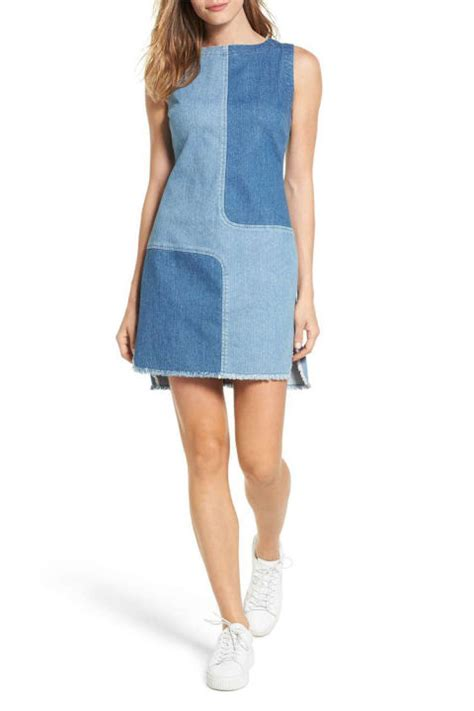 Denim Mix Dress 10 best denim dresses for 2018 jean chambray and