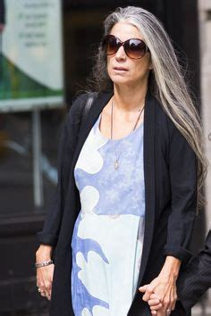 women with middle long grey hairstyles 40plusstyle com long silver hair 40plusstyle com hairstyles for women