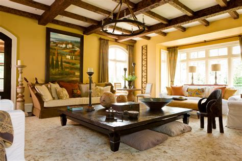 tuscan flair mediterranean living room