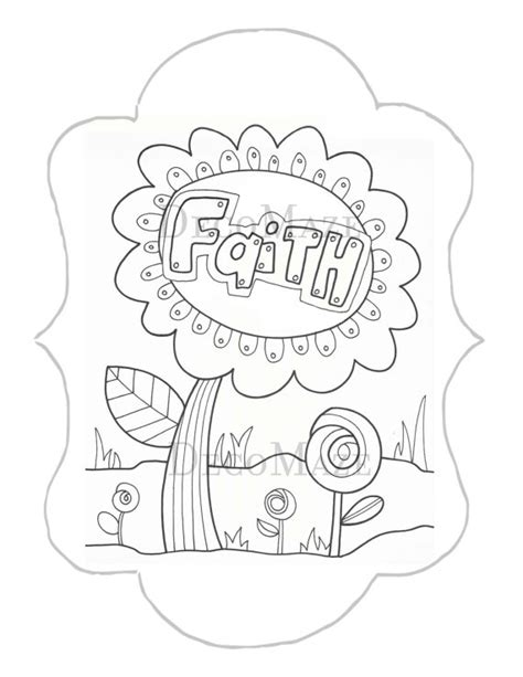printable faith coloring pages faith coloring page flower coloring page diy