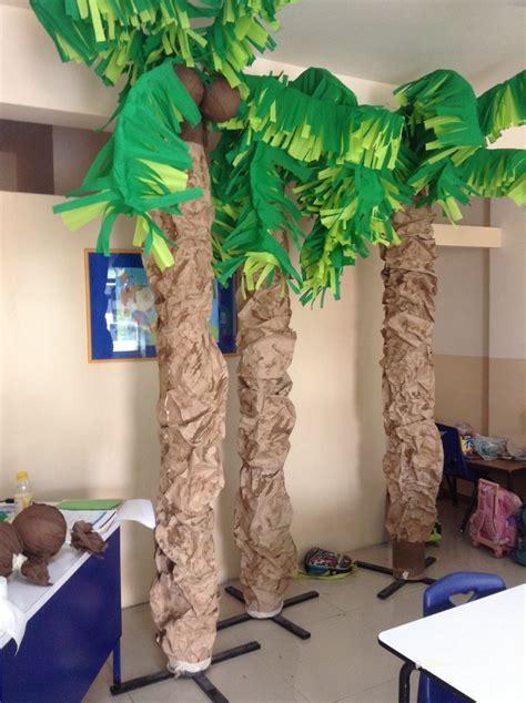 como hacer una palmera de papel palmeras echas de papel estraza papel crep 233 y alambre
