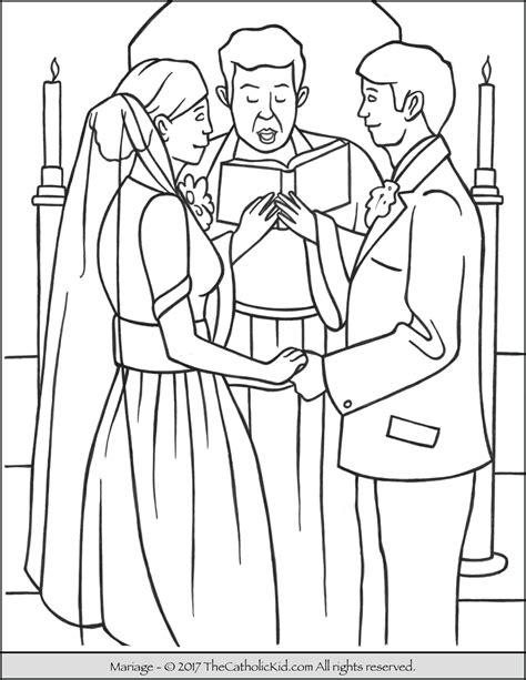 sacrament of marriage coloring page thecatholickid com
