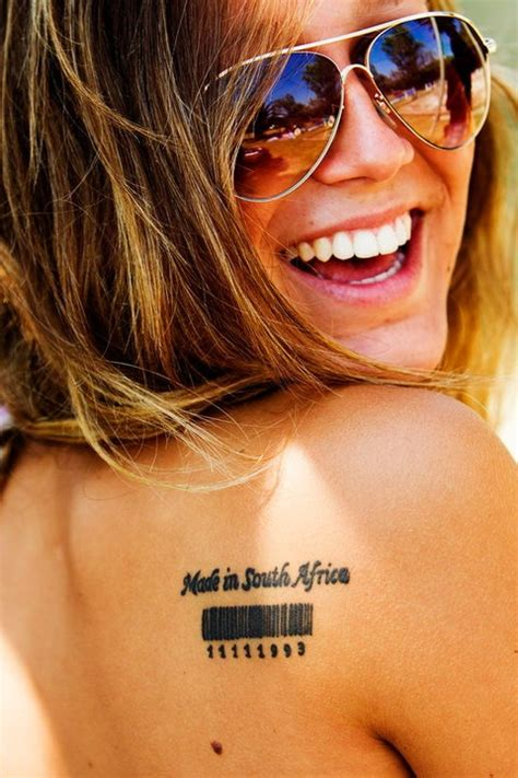 barcode tattoo birthday 12 super simple quote tattoos for girls pretty designs