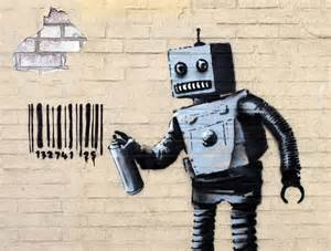 Banksy Wall Murals banksy quot tagging robot quot new street piece coney island