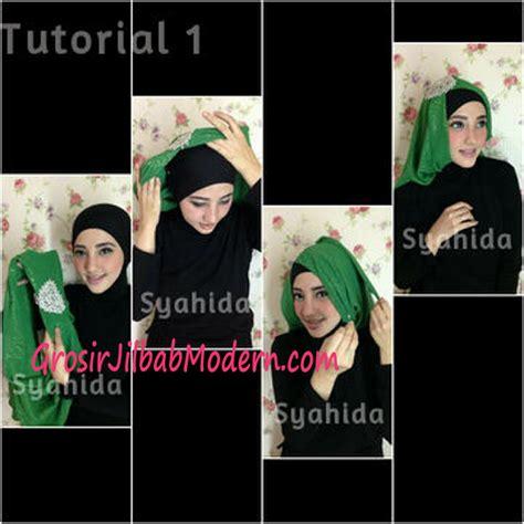 tutorial cara pake hijab turban turban pesta sufya exclusive by syahida cara pake model 1