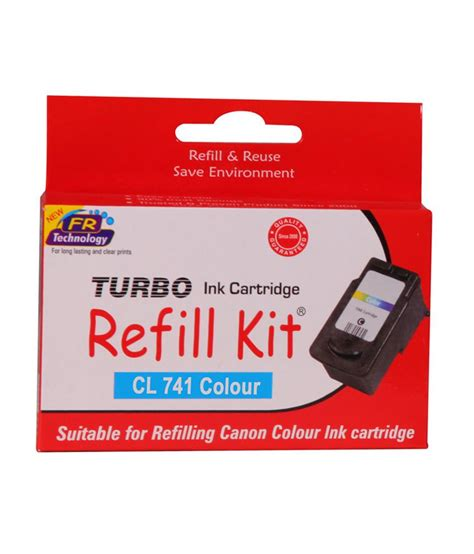 Carthridge Canon 741 Colour turbo refill kit for canon 741 colour ink cartridge buy turbo refill kit for canon 741 colour
