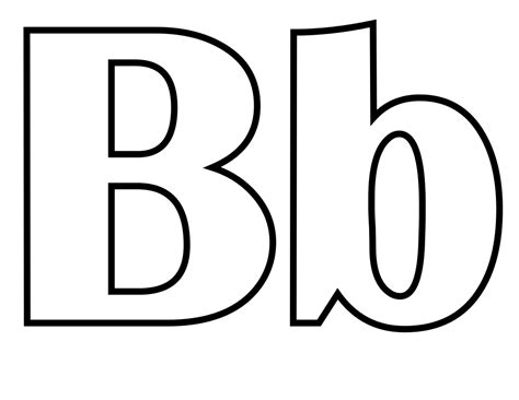 free coloring pages of alphabet tracing letter b