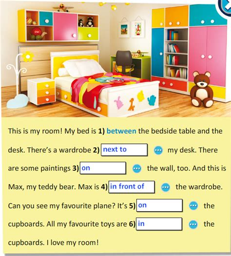 room or room grammar elc d senior 2017 grammar prepositions of place