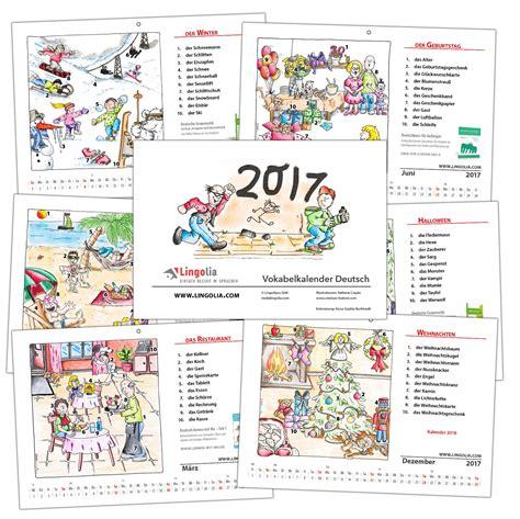 Calendario Aleman Calendar 2017 Lingolia