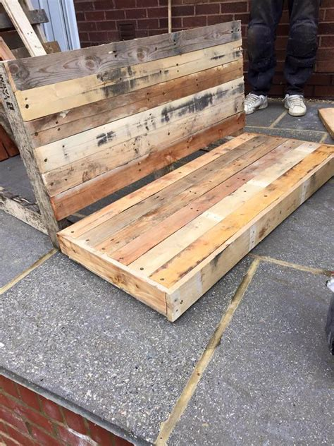 diy bench with backrest diy pallet garden bench