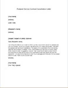 Cancellation Letter For Travel Insurance Postpaid Service Contract Cancellation Letter