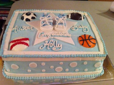 Sports Themed Baby Shower Cakes by 25 Best Ideas About Baby Shower Sports On