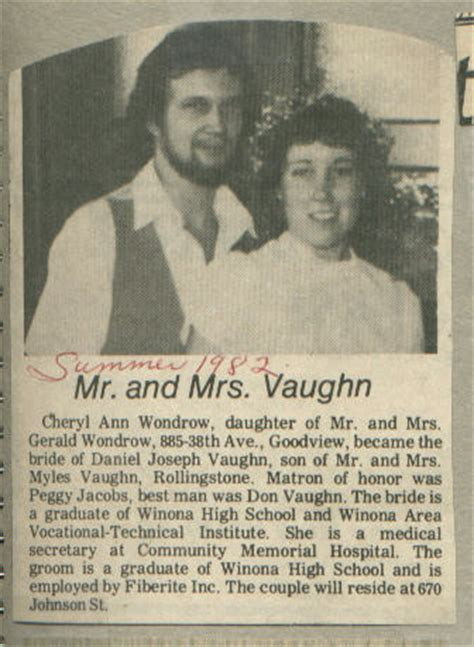 Wedding Announcement Newspaper Articles by Descendants Of Ed Yarolimek