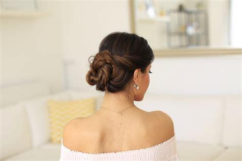 2 minute elegant bun hairstyle totally easy hair tutorial 2 minute elegant bun hair tutorial luxy hair