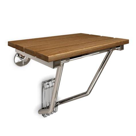 shop dreamline teak wood wall mount shower seat at