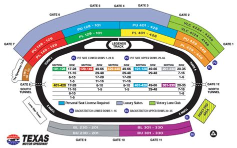 texas motor speedway seating map nascar tickets texas motor speedway theticketbucket