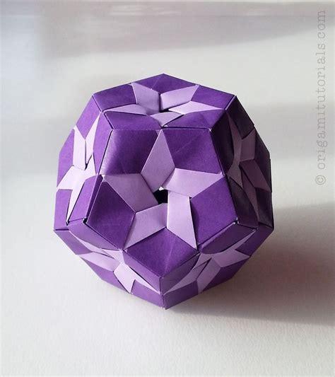 Modular Origami Tutorials - prints kusudama tutorial origami tutorials