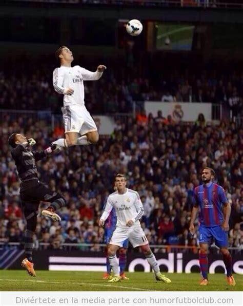 fotos real madrid humor photoshopeado el super salto de cristiano ronaldo ante el