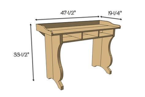 diy sicily writing desk free plans pottery barn inspired