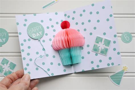 pattern pop up card birthday honeycomb cupcake pop up card video tutorial we r