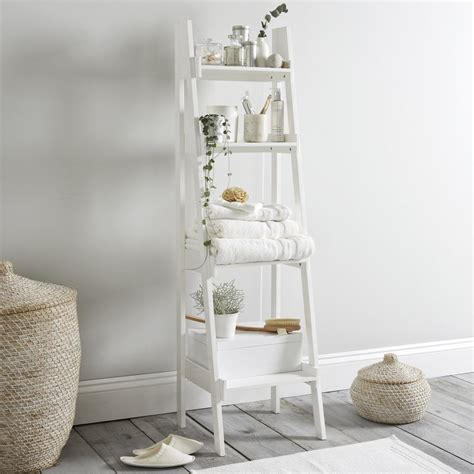 bathroom ladder shelf white goodglance