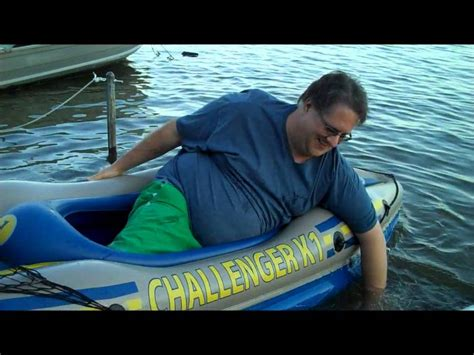 that boat guy fat man and his kayak youtube