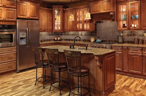 Society Hill Kitchen Cabinets | society hill raised panel mocha kitchen cabinets
