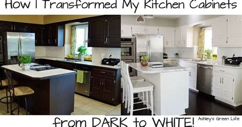how to paint kitchen cabinets white how to paint your kitchen cabinets from dark to white hometalk