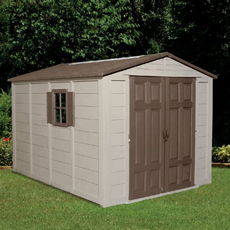 homestyles garden shed vinyl rona build a ready to