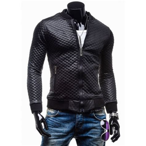 motorbike jackets for sale slim fit black quilted faux leather motorcycle jacket mens